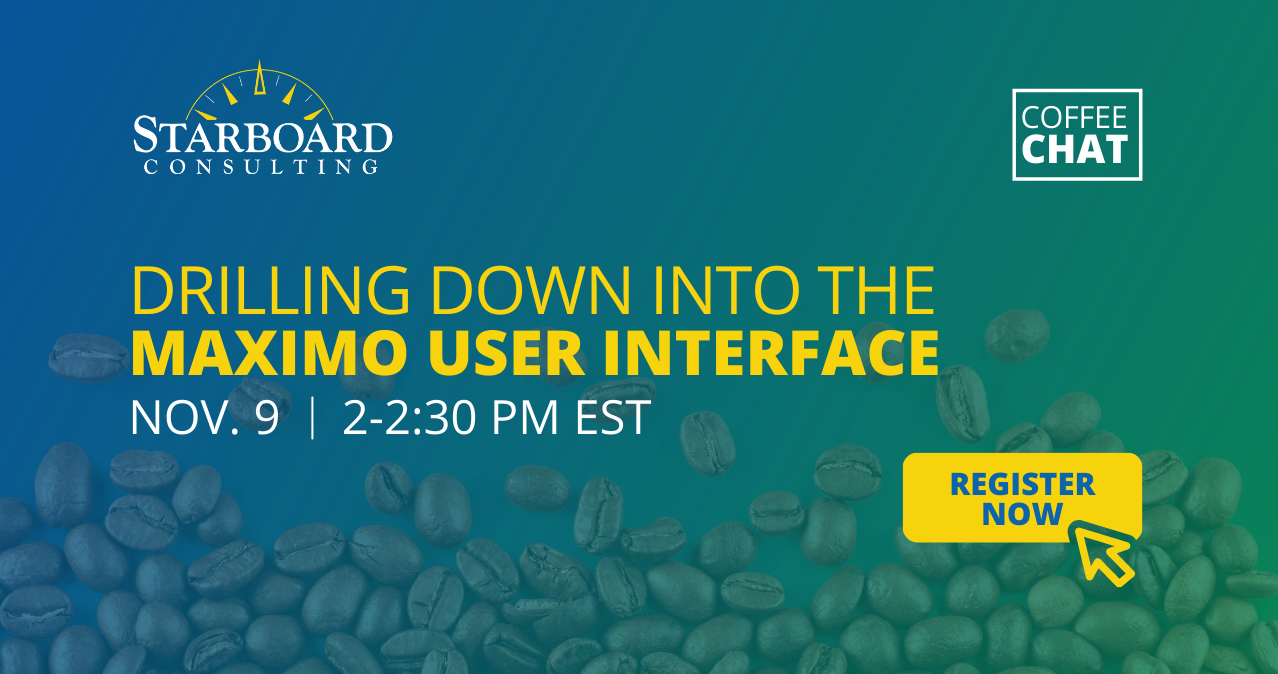 Coffee Chat Maximo User Interface Nov 9